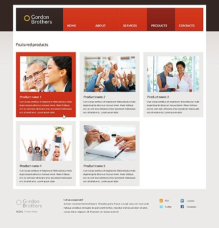Template 37359 ( Products Page ) ADOBE Photoshop Screenshot