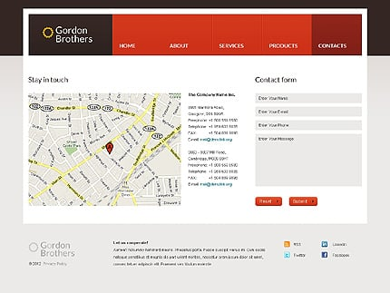 Template 37359 ( Contacts Page ) ADOBE Photoshop Screenshot