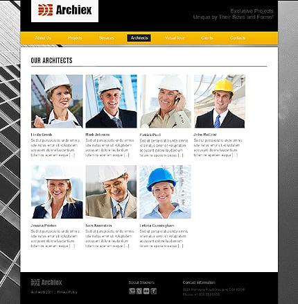 Template 37379 ( Architects Page ) ADOBE Photoshop Screenshot