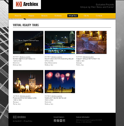 Template 37379 ( Virtual  Tour Page ) ADOBE Photoshop Screenshot