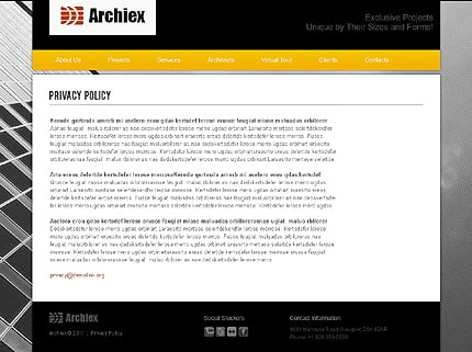 Template 37379 ( Privacy Policy Page ) ADOBE Photoshop Screenshot