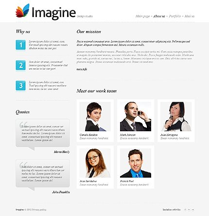 Template 37382 ( About Us Page ) ADOBE Photoshop Screenshot