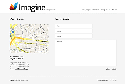 Template 37382 ( Mail us Page ) ADOBE Photoshop Screenshot