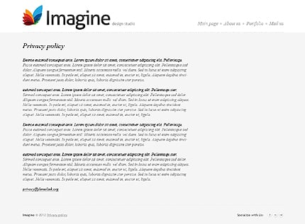 Template 37382 ( Privacy Policy Page ) ADOBE Photoshop Screenshot