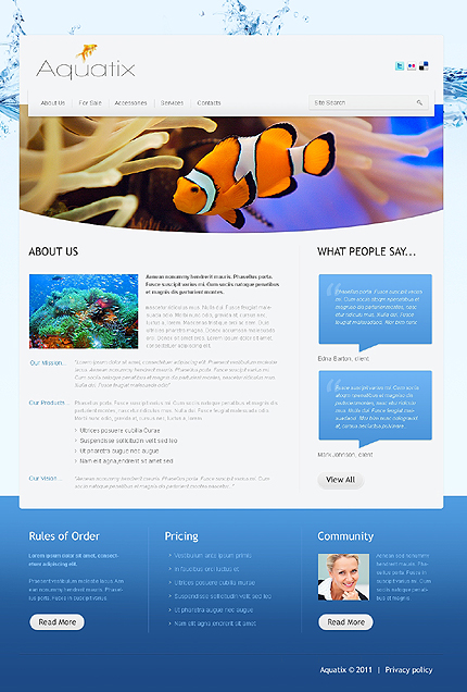 Template 37388 ( About Us Page ) ADOBE Photoshop Screenshot
