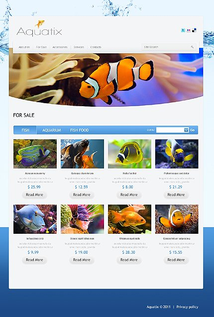 Template 37388 ( For sale Page ) ADOBE Photoshop Screenshot