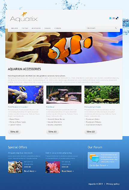 Template 37388 ( Accessories Page ) ADOBE Photoshop Screenshot