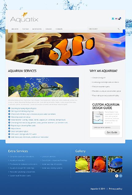Template 37388 ( Services Page ) ADOBE Photoshop Screenshot
