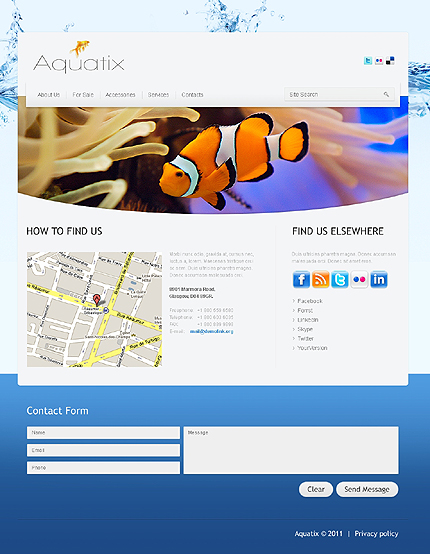 Template 37388 ( Contacts Page ) ADOBE Photoshop Screenshot