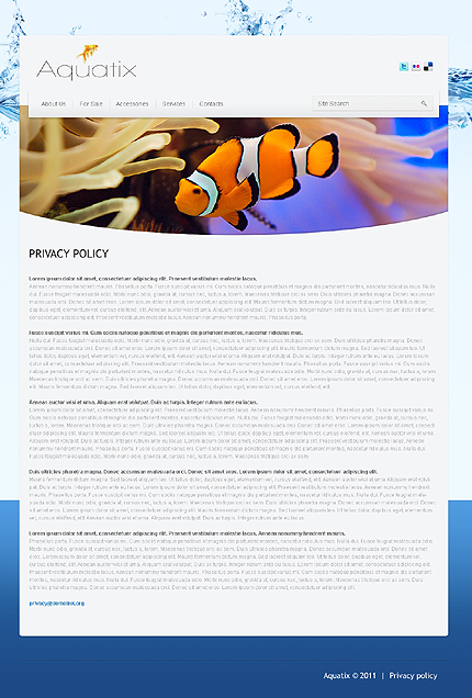 Template 37388 ( Privacy Policy Page ) ADOBE Photoshop Screenshot
