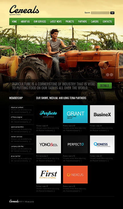 Template 37389 ( Partners Page ) ADOBE Photoshop Screenshot