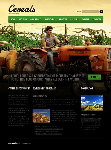 Template 37389 ( Careers Page ) ADOBE Photoshop Screenshot