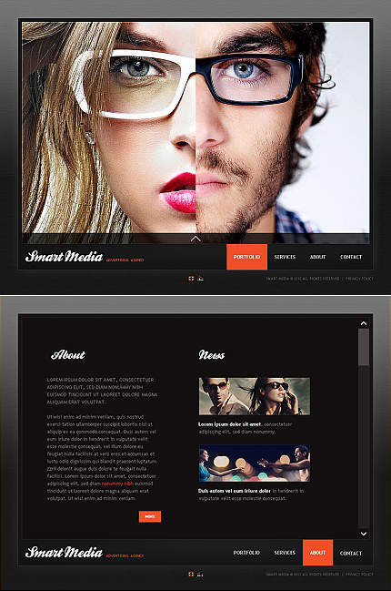 ADOBE Photoshop Template 37390 Home Page Screenshot