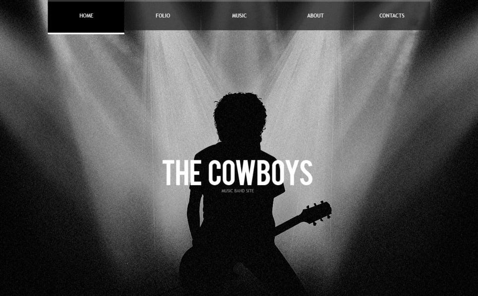 Müzik Grubu  Flash Cms Şablon New Screenshots BIG
