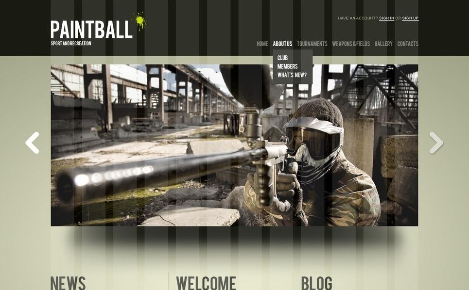 Responsywny szablon Joomla #37397 na temat: paintball New Screenshots BIG