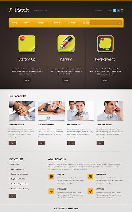 Drupal Template 37398 Main Page Screenshot