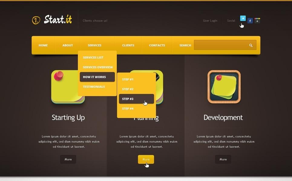 Danışmanlık  Drupal Şablonu New Screenshots BIG