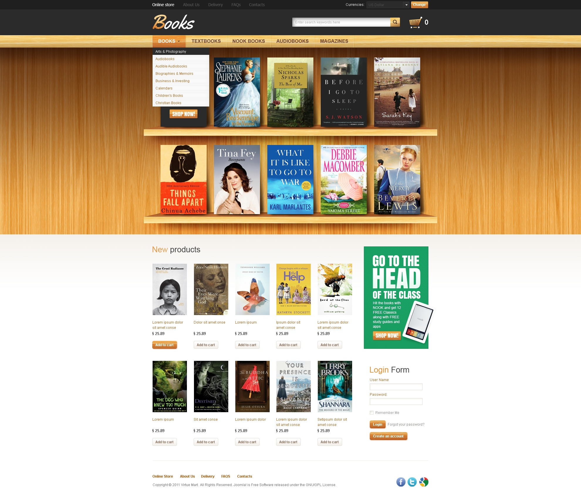 book store facebook flash template 37308. Black Bedroom Furniture Sets. Home Design Ideas