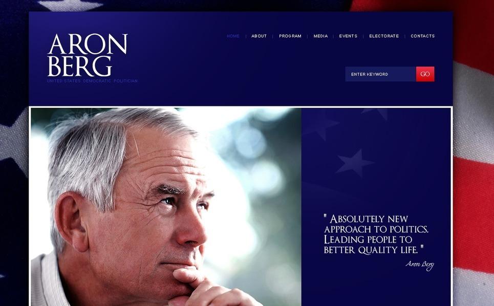 Szablon Strona Www #37405 na temat: kandydat polityczny New Screenshots BIG