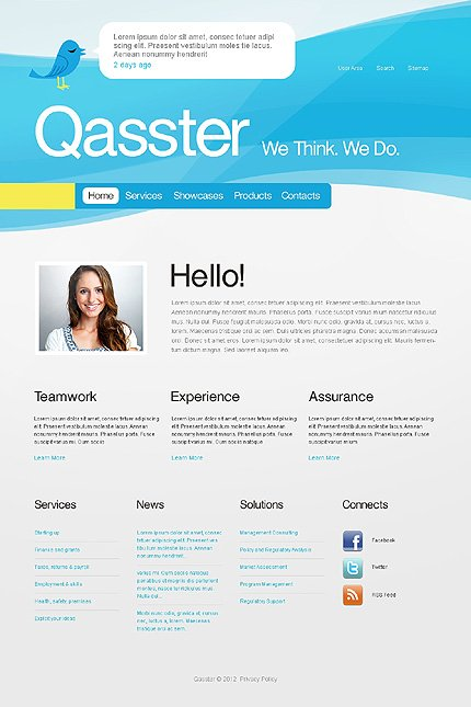 Template 37407 ( Home Page ) ADOBE Photoshop Screenshot