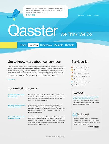 Template 37407 ( Services Page ) ADOBE Photoshop Screenshot