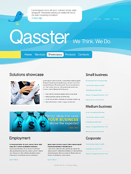 Template 37407 ( Showcases Page ) ADOBE Photoshop Screenshot