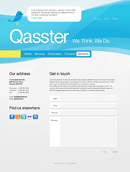 Template 37407 ( Contacts Page ) ADOBE Photoshop Screenshot