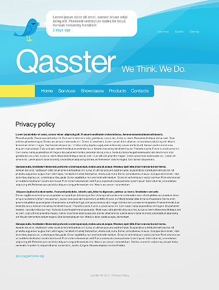 Template 37407 ( Privacy Policy Page ) ADOBE Photoshop Screenshot
