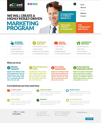 Template 37410 ( Services Page ) ADOBE Photoshop Screenshot