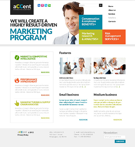 Template 37410 ( Solutions Page ) ADOBE Photoshop Screenshot