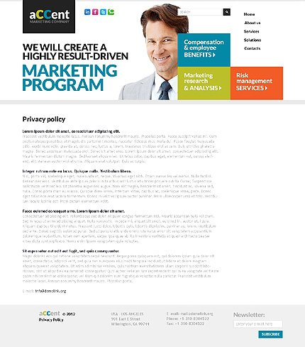 Template 37410 ( Privacy Policy Page ) ADOBE Photoshop Screenshot