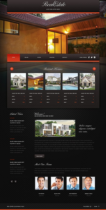 ADOBE Photoshop Template 37423 Home Page Screenshot