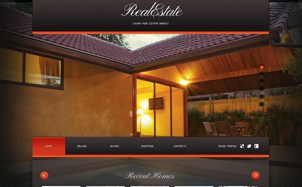 房产中介网页Flash CMS模板 New Screenshots BIG