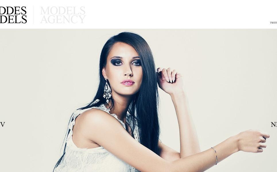 Szablon Flash CMS #37424 na temat: agencja modelek New Screenshots BIG