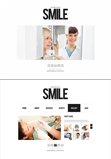 ADOBE Photoshop Template 37426 Home Page Screenshot
