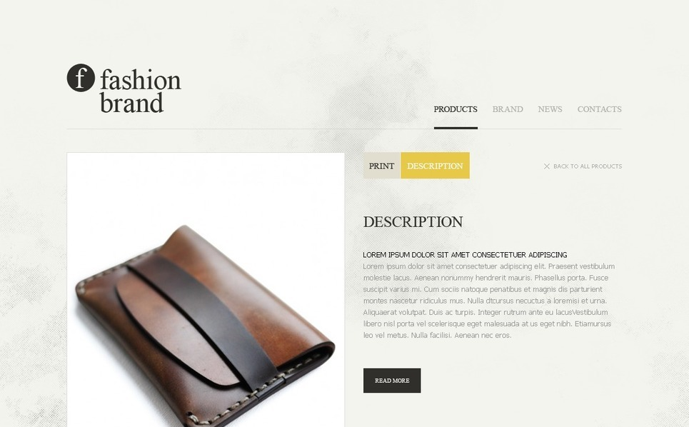 Plantilla Flash CMS #37428 para Sitio de Moda New Screenshots BIG