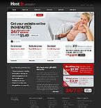 Web Hosting Website  Template 37456