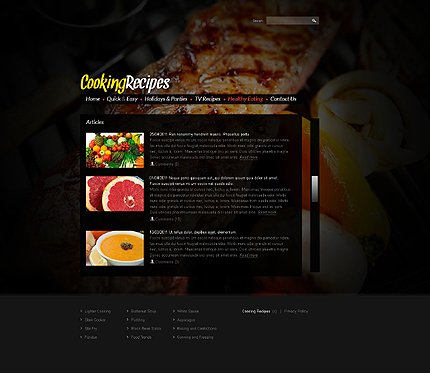Template 37463 ( Healthy Eating Page ) ADOBE Photoshop Screenshot