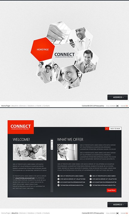 ADOBE Photoshop Template 37466 Home Page Screenshot