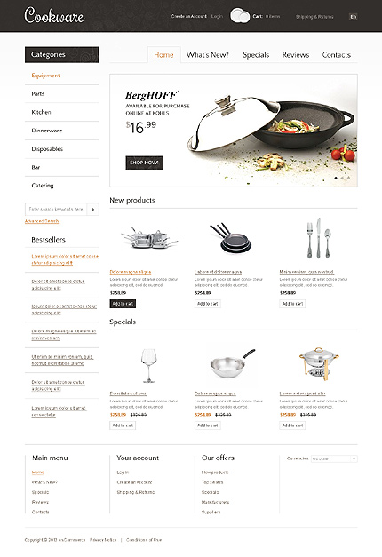 osCommerce Template 37484 Main Page Screenshot