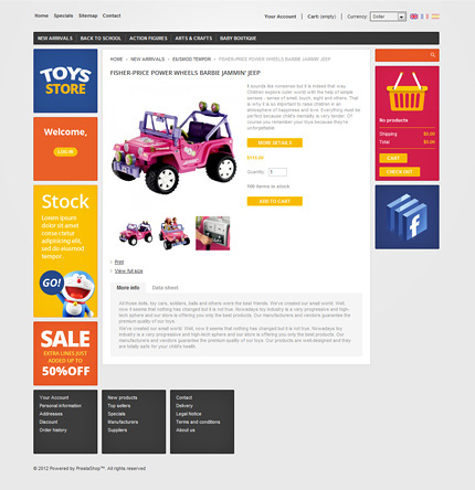 ADOBE Photoshop Template 37487 Home Page Screenshot