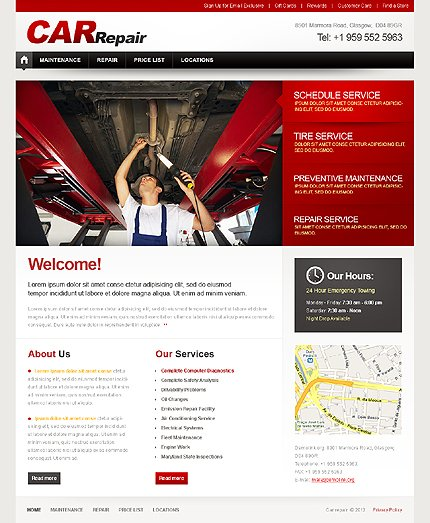 ADOBE Photoshop Template 37491 Home Page Screenshot