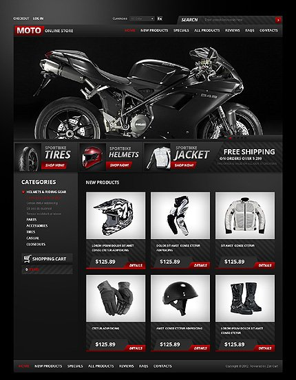 ZenCart Template 37499 Main Page Screenshot