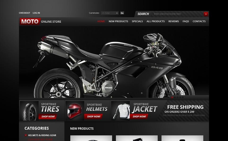 Thème Zen Cart  pour magasin de moto  New Screenshots BIG