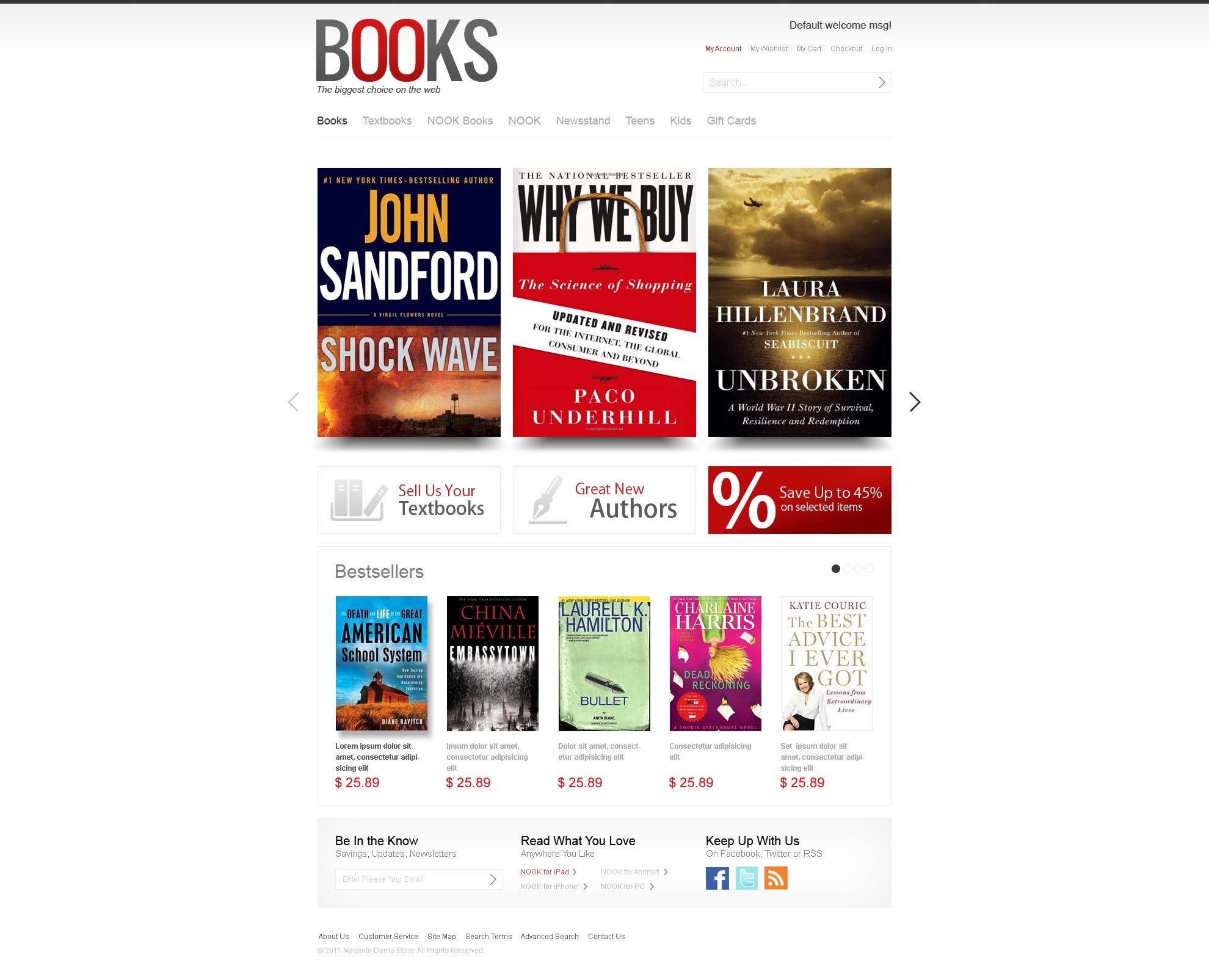 book store facebook flash template 37480. Black Bedroom Furniture Sets. Home Design Ideas