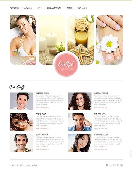 Template 37501 ( Staff Page ) ADOBE Photoshop Screenshot