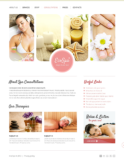 Template 37501 ( Consultations Page ) ADOBE Photoshop Screenshot