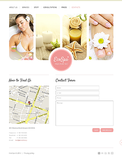 Template 37501 ( Contacts Page ) ADOBE Photoshop Screenshot