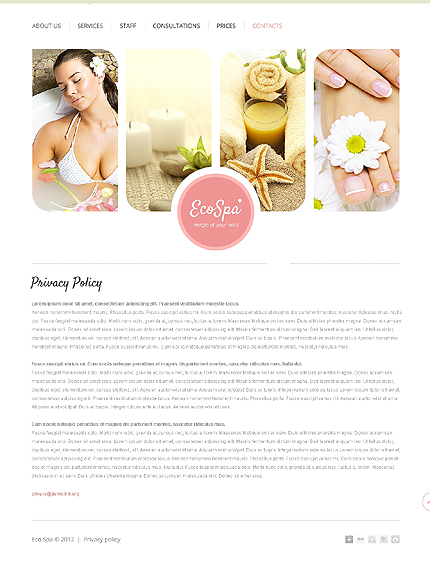 Template 37501 ( Privacy Policy Page ) ADOBE Photoshop Screenshot