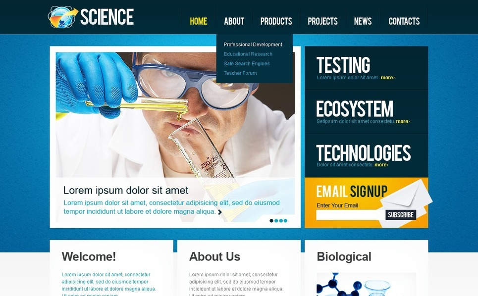 Modèle Web  pour site scientifique New Screenshots BIG